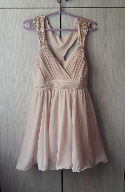 Pastelowa różowa sukienka cekiny wesele Sylwester studniówka Lipsy hit