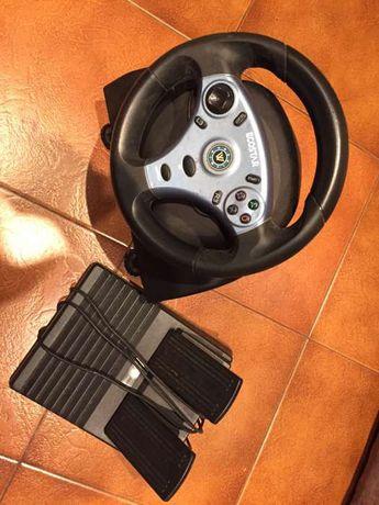 volante e pedais para a PlayStation