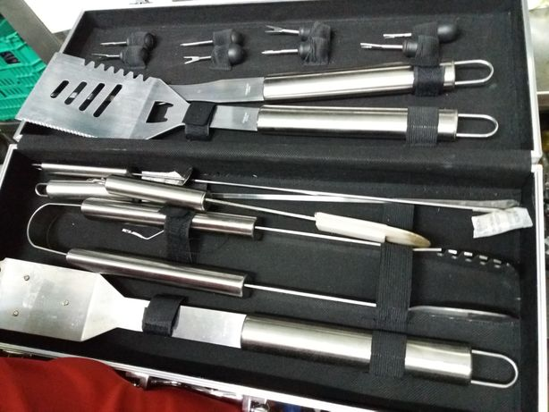 Grelhar Churrasco utensílios grandes kit de churrascos