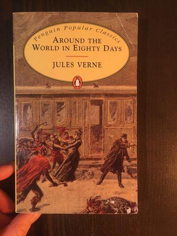 """książka w języku angielskim Jules Verne """"around the world in80 day"""