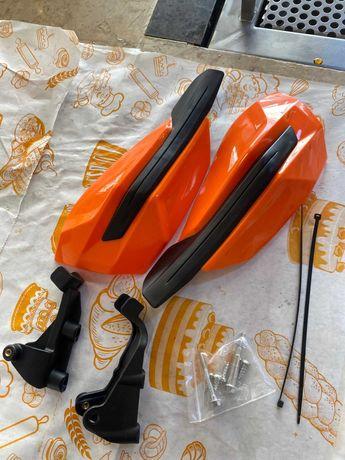 Handbary KTM Listki pomarańczowe Enduro Cross Quad