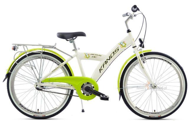 Rower 24 Kands Biały DC Aluminiowy