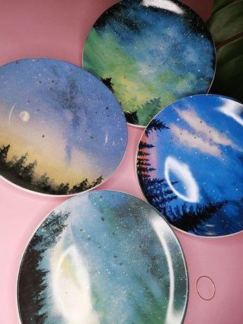 Тарелка звездное небо, набор тарелок 4 шт, необычные тарелки купить