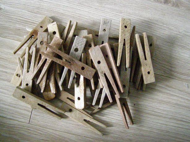 klamerki drewniane z PRL