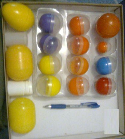 Zestaw kreatywny dla dzieci i nie tylko nr 3 kule piłki jajka zamykane