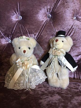 Par de noivos ursinhos