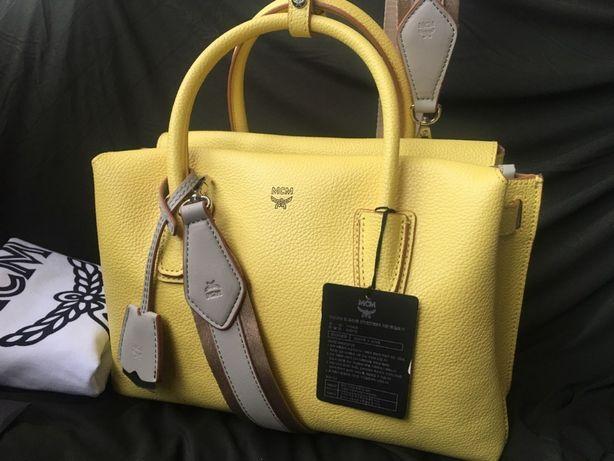 Кожаная женская сумка из натуральной кожи оригинал mcm