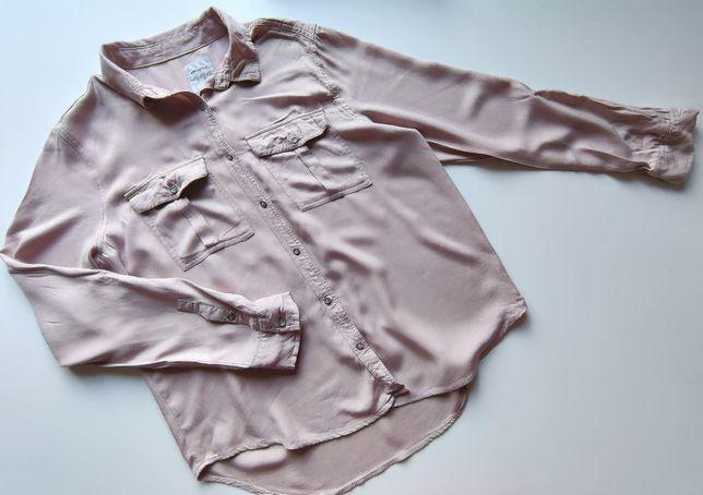 Pudrowo-różowa oversizowa koszula - Diverse rozmiar S