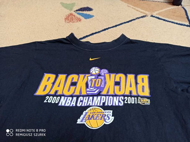 Koszulka t-shirt Los Angeles Lakers Nike oldschool 2001
