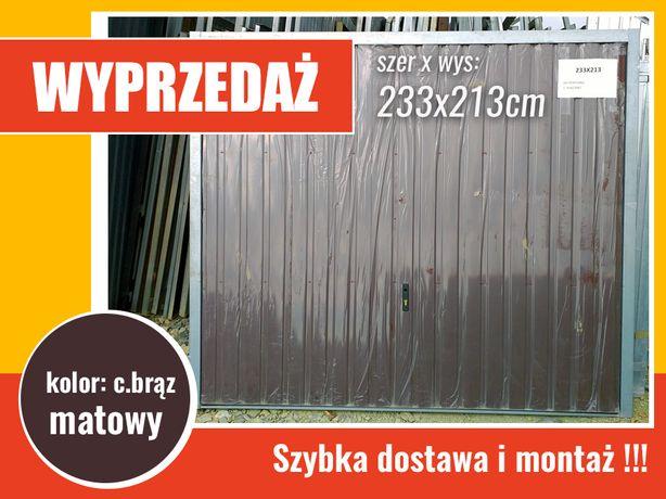 WYPRZEDAŻ brama garażowa nieocieplana, kolor c.brąz matowy, PRODUCENt