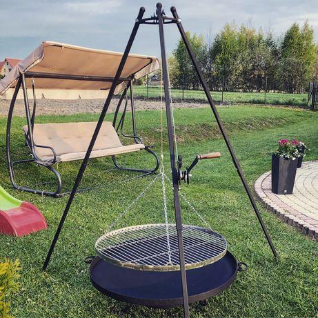 Grill na trójnogu KUTY 215 -trójnóg ogrodowy- ogniskowy- ruszt 80 cm