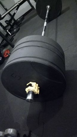 Bumpery, obciążenie 100 kg, gryf olimpijski 220 cm 20 kg zaciski -NOWE