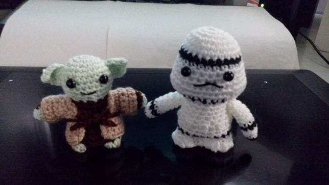 Darth Vader e outros Amigurumi Star Wars (Bonecos em Crochet)