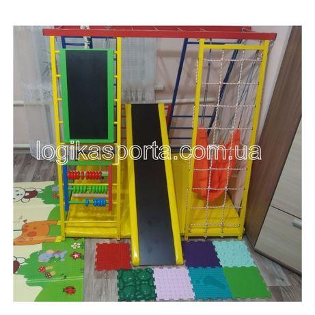 Детский спортивный комплекс напольный, горка, качели, игровая площадка