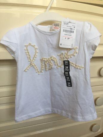 Новая футболка Zara baby для девочки