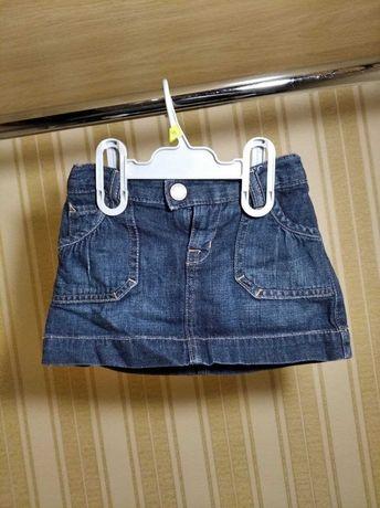 Юбочка джинсовая 6 - 12 месяцев baby GAP