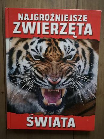 Książka - album Najgroźniejsze zwierzęta świata.