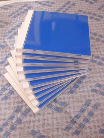 10 Caixas para CDs com Vinyl azul