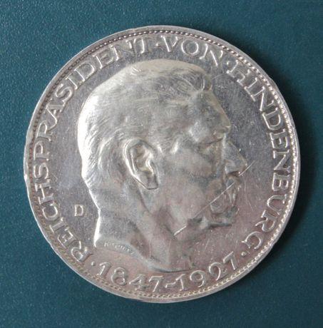 монета 5 марок 1927 года ,Гинденбург