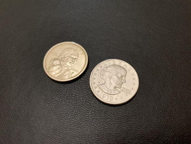 Монеты США 1 доллар сакагавеи сьюзен энтони