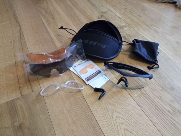 NIGHTHAWK - okulary balistyczne SWISSEYE nowe z wkładką korekcyjną asg