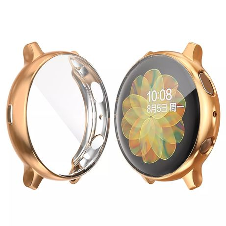 Galaxy watch Active 2 szkło case wodoodporna GOLD High protection