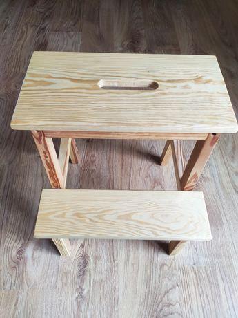 Taboret ze schodkiem podest krzesło