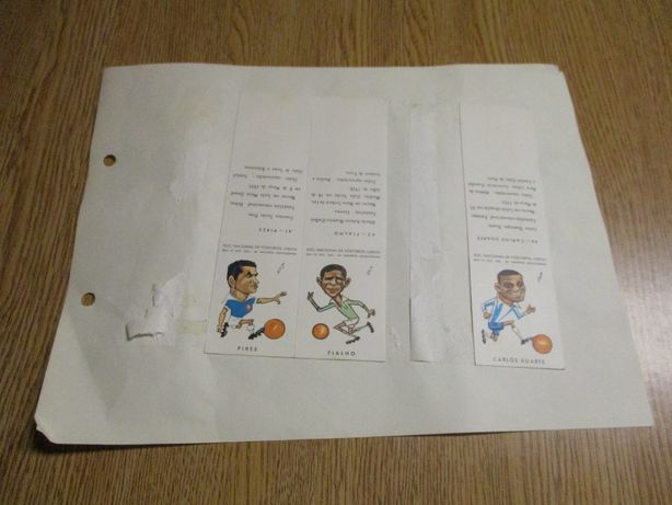 Carteiras antigas fósforos Futebol caricaturas desporto Cromos