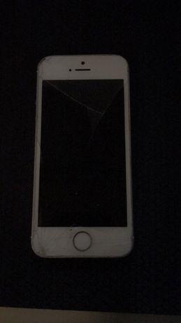 Iphone 5s Silver 16gb apenas ecrã partido