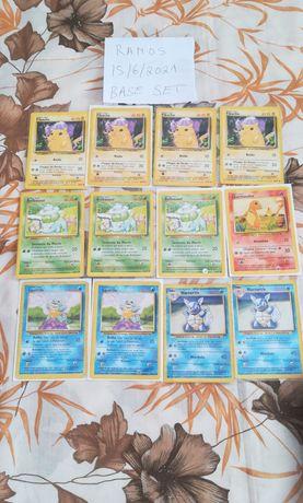 Cartinhas Pokémon Base Set dos anos 90