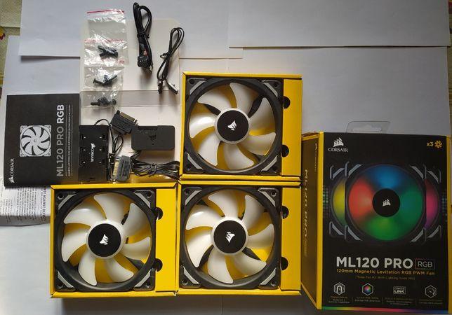 Набор кулеров Corsair ML120 Pro RGB