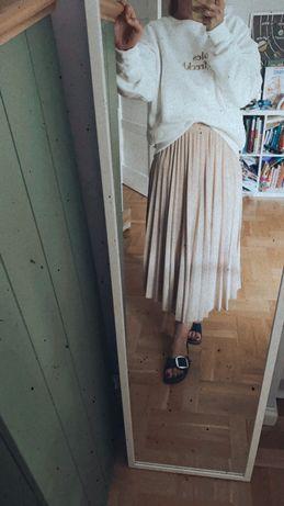 Sprzedam spódnicę plisowaną h&m m jasny beż midi
