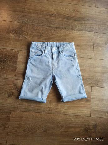 Krótkie spodenki H&M rozm. 128 spodnie