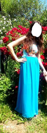 Плаття платтячко платье сукня голубого кольору шифонове плаття літнє
