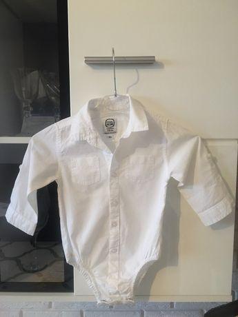 Body koszulowe elegancie COOL CLUB r 80 wesele Komunia święta koszula