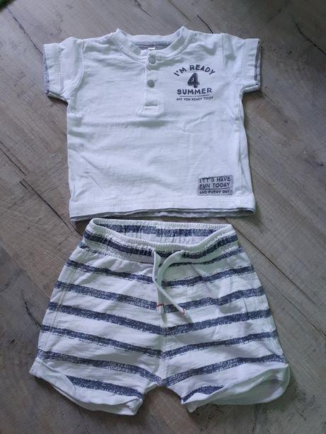 Spodenki Zara + bluzka dla chłopca 74