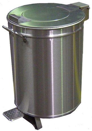 BALDE de Lixo / Detritos em aço inox com pedal 50 Lts.