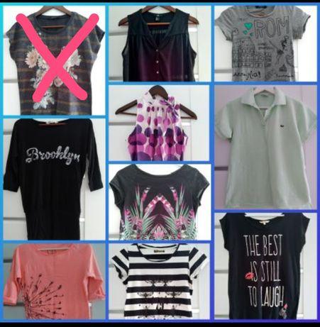 Bluzki, koszulki, T-shirty roz. 34/36/38 do wyboru.