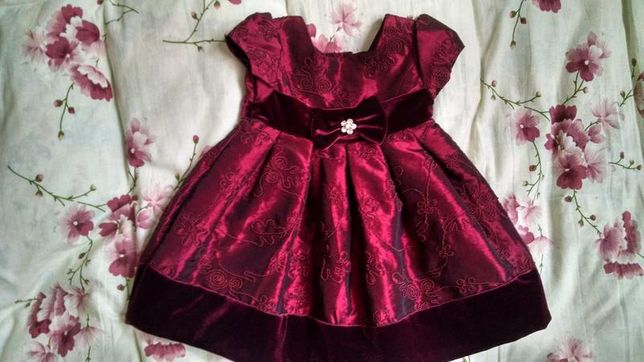Шикарное платье sweet heart rose на годик