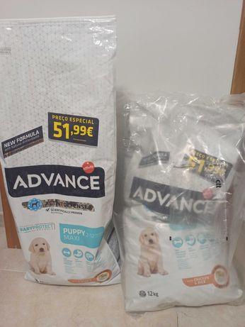 Ração Cão Advanced Maxi Puppy - nova + 3kg em saco aberto