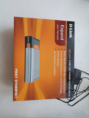 Продам маршрутизатор, комутатор D-Link DES-1008D