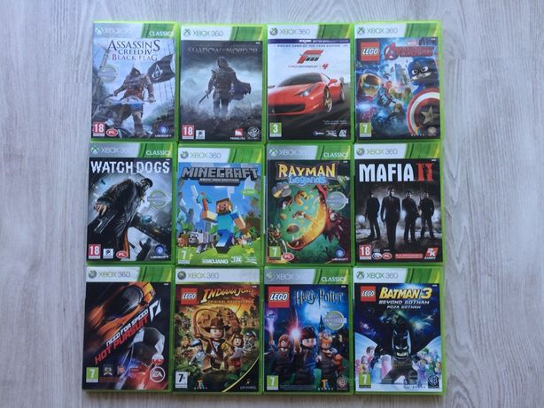 Gra Xbox 360 Watch Dogs Mafia II LEGO Avengers Batman Rayman Minecraft