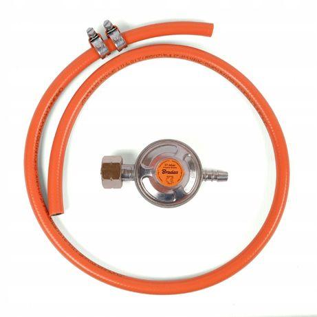 Reduktor gazowy do butli +wąż 1m + opaski