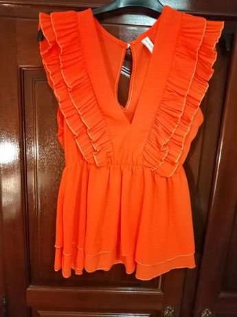 Blusa laranja linda