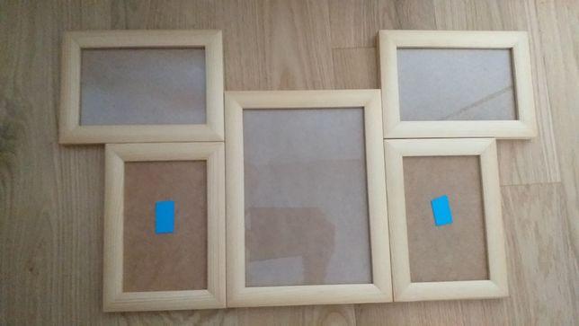 Nowa ramka na zdjęcia i odciski z glinki