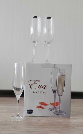 Бокалы для шампанского EVA, 6 штук по 220 мл. Келихи для шампанського
