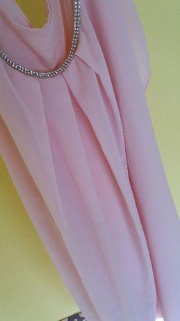 Różowa sukienka tunika r.S/M