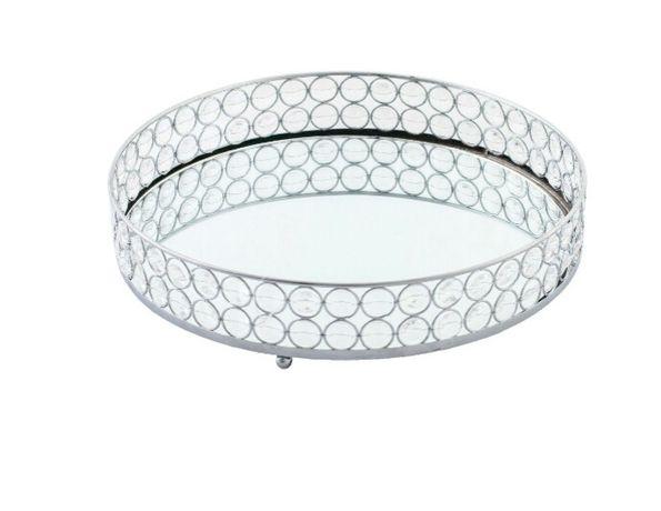 Taca glamour z lustrem i kryształkami, w stylu home&you