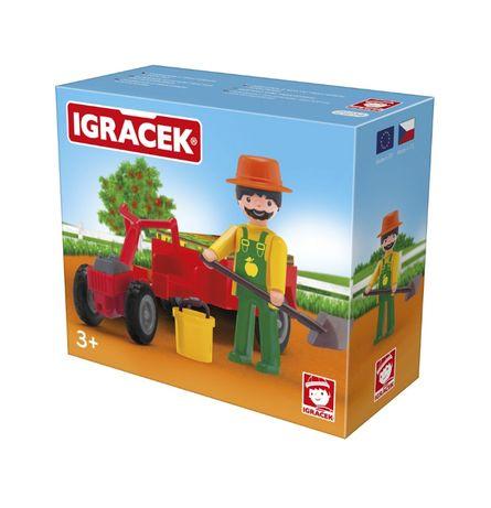 Igracek traktorzysta z akcesoriami