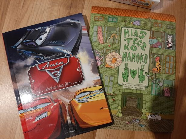 Książki dla dzieci, zygzak mcqueen, miasteczko mamoko